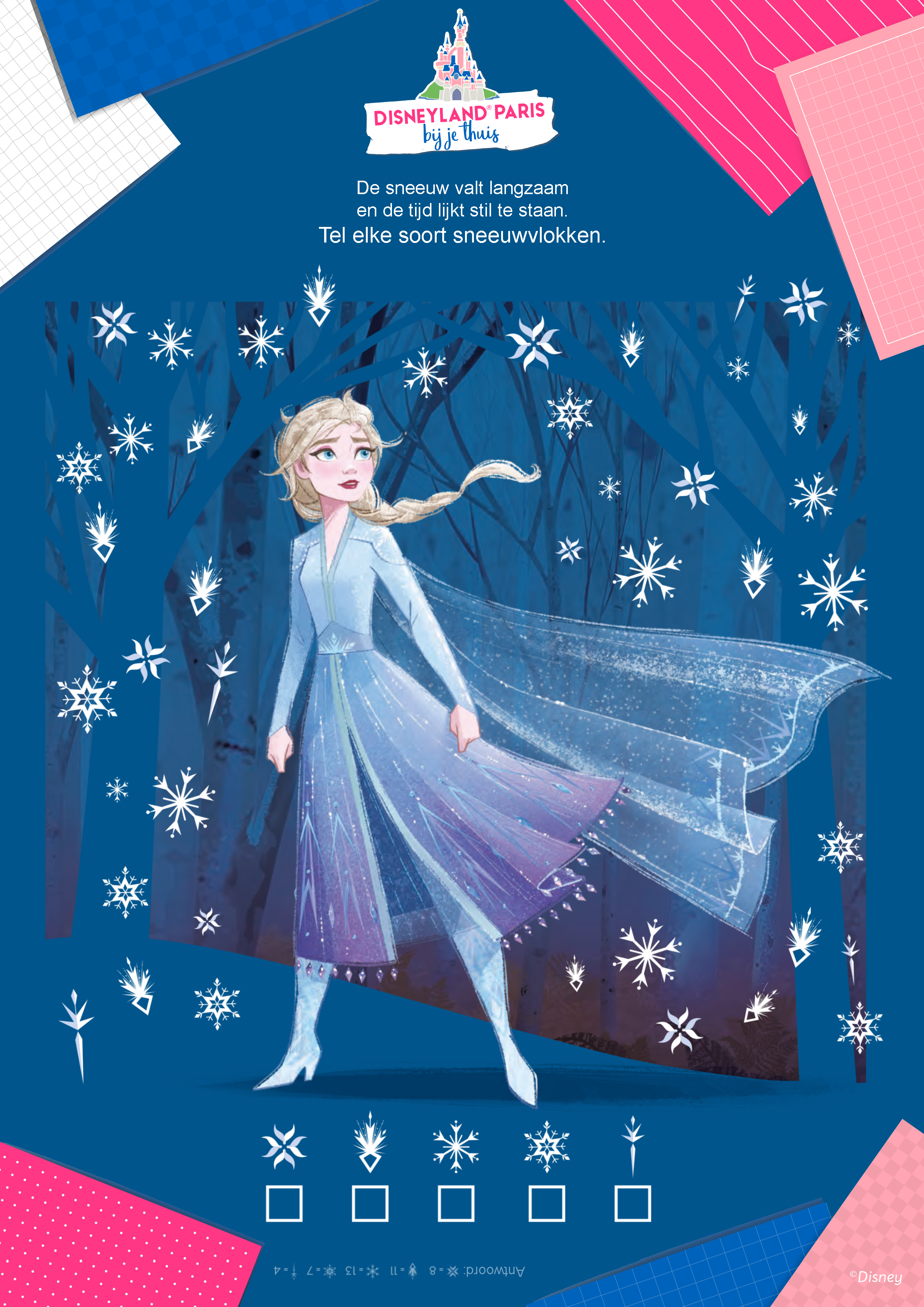 Sneeuwvlokken tellen met Elsa