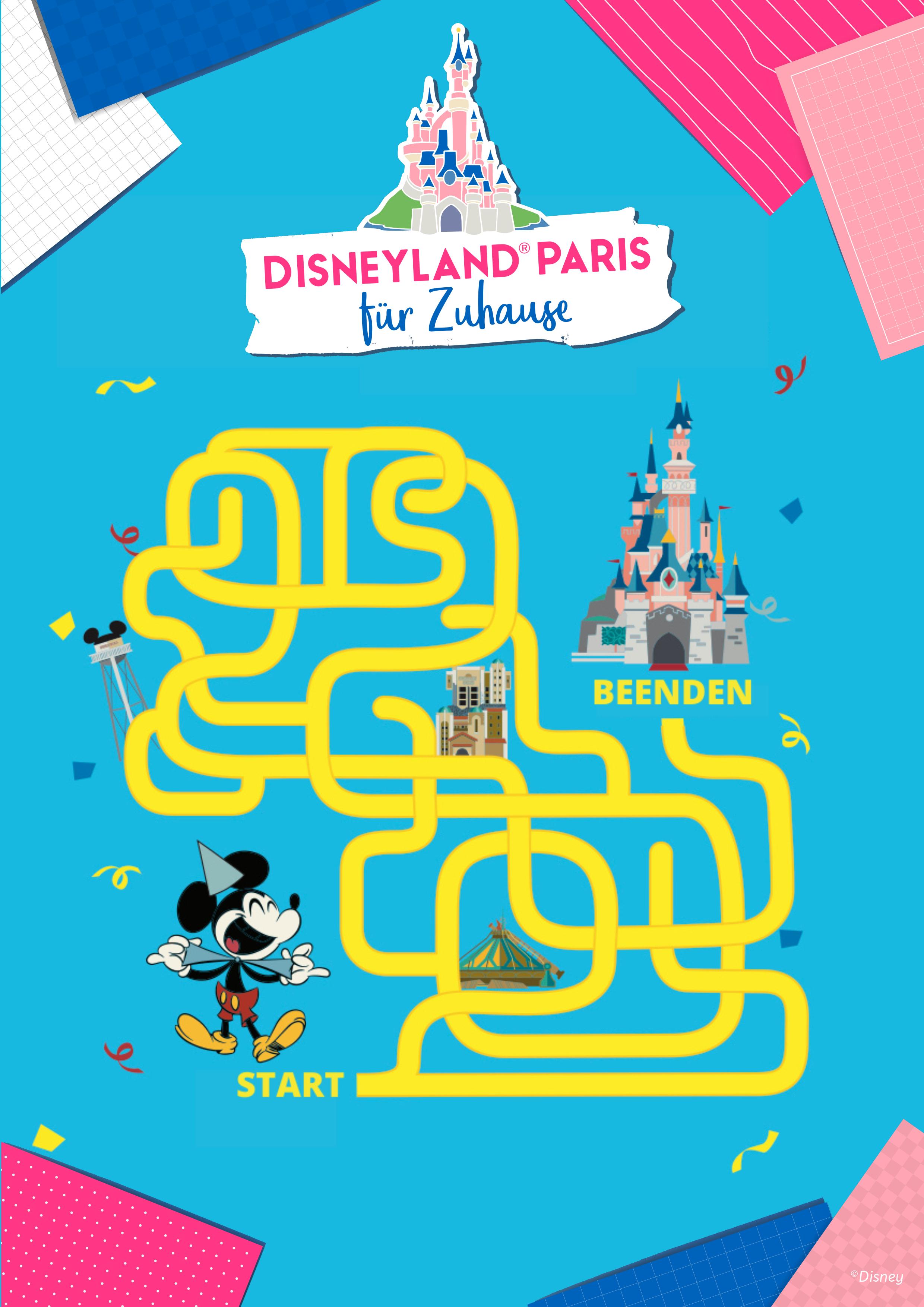 Hilf Micky, den Weg aus dem Labyrinth zu finden!