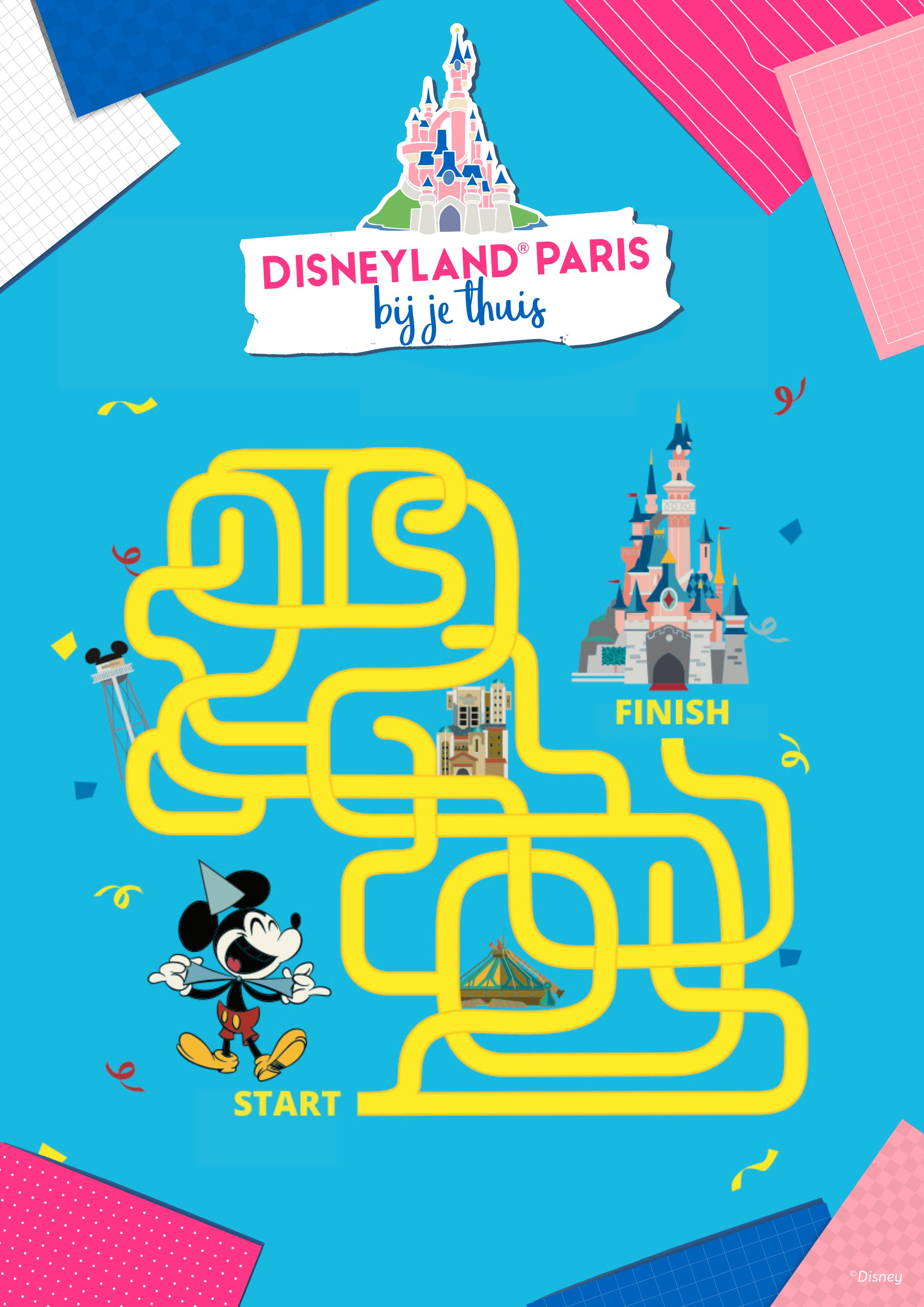 Help Mickey om de weg uit het labyrint te vinden