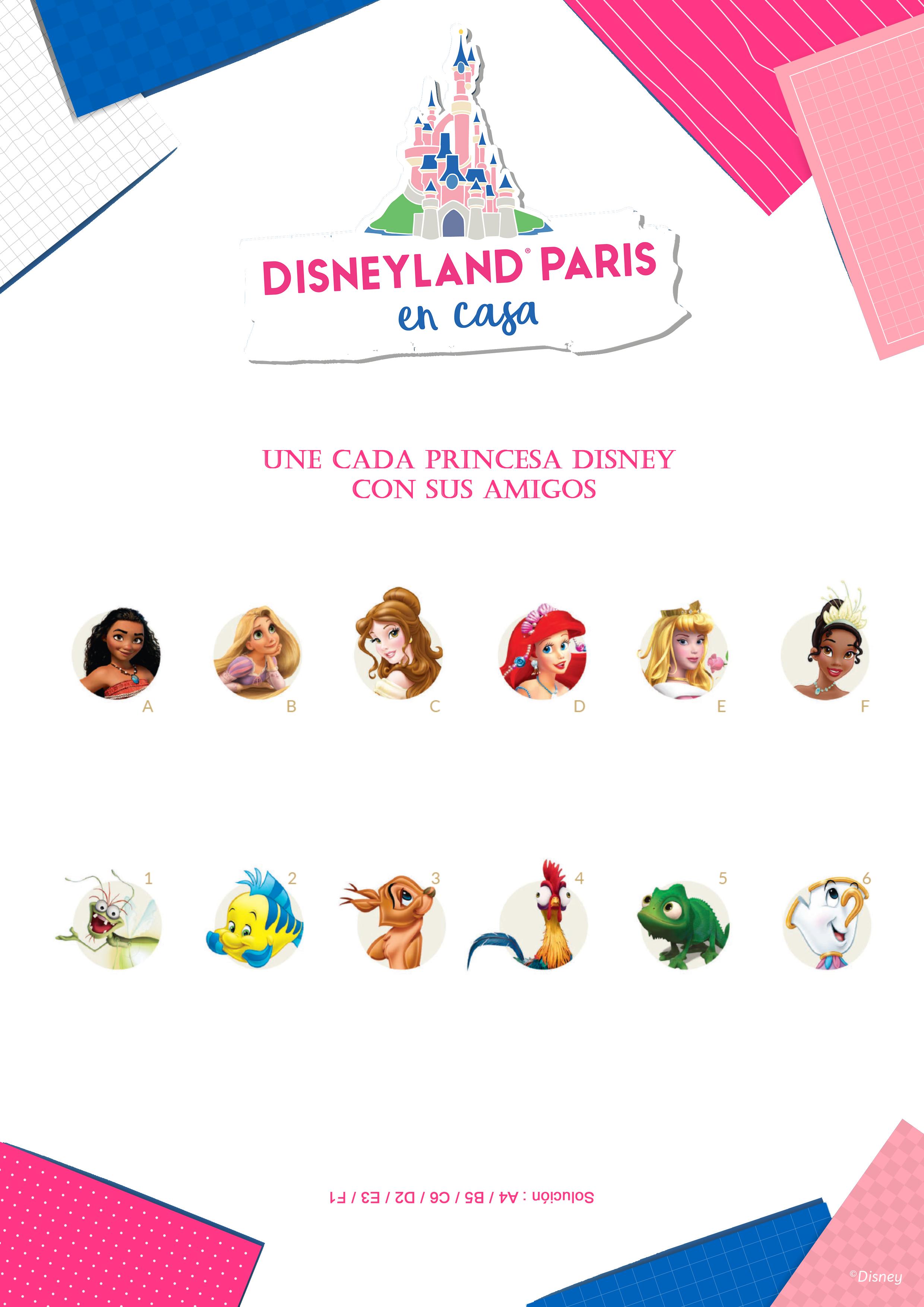 Une cada Princesa Disney con sus amigos
