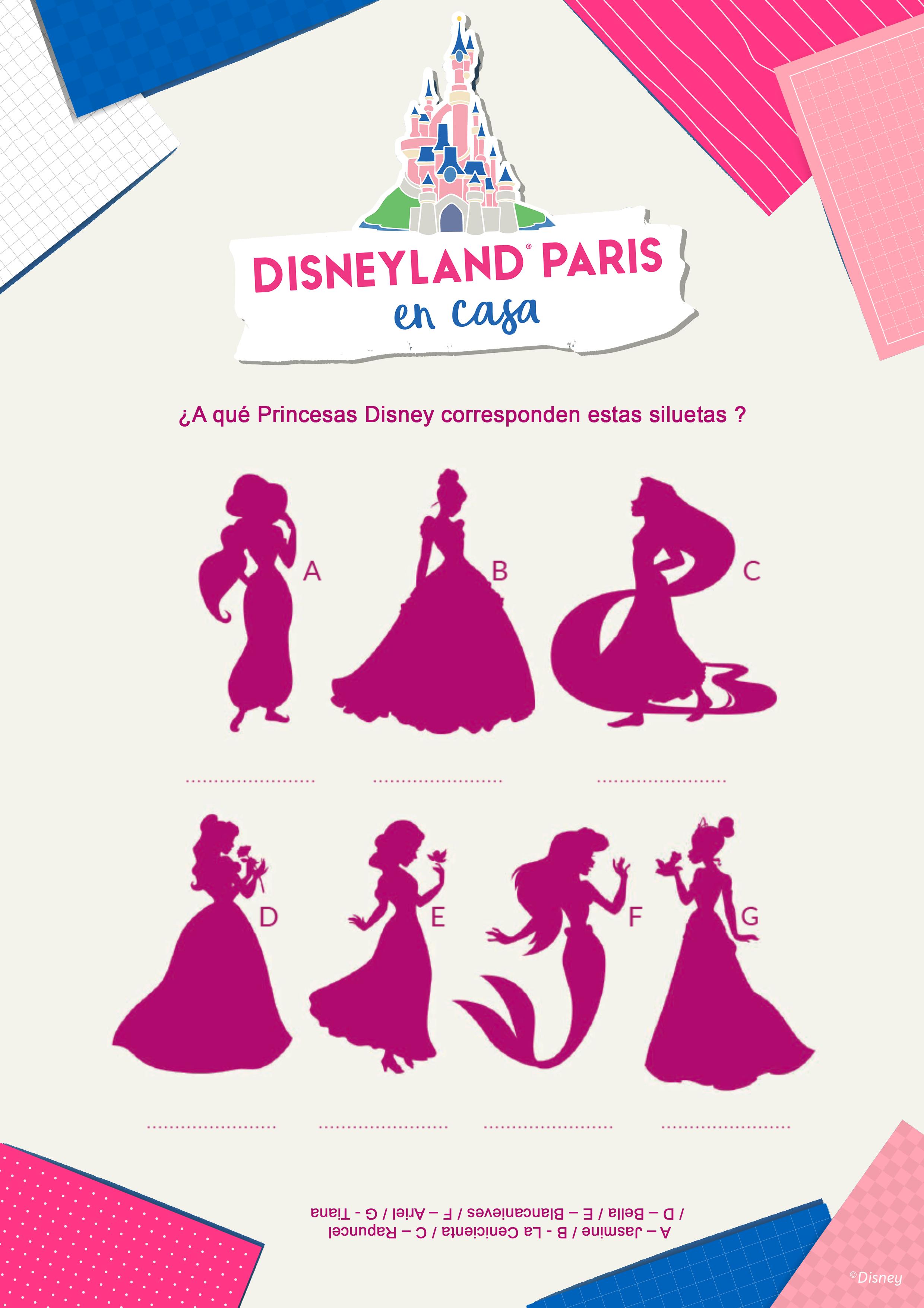¿A qué Princesas Disney corresponden estas siluetas ?