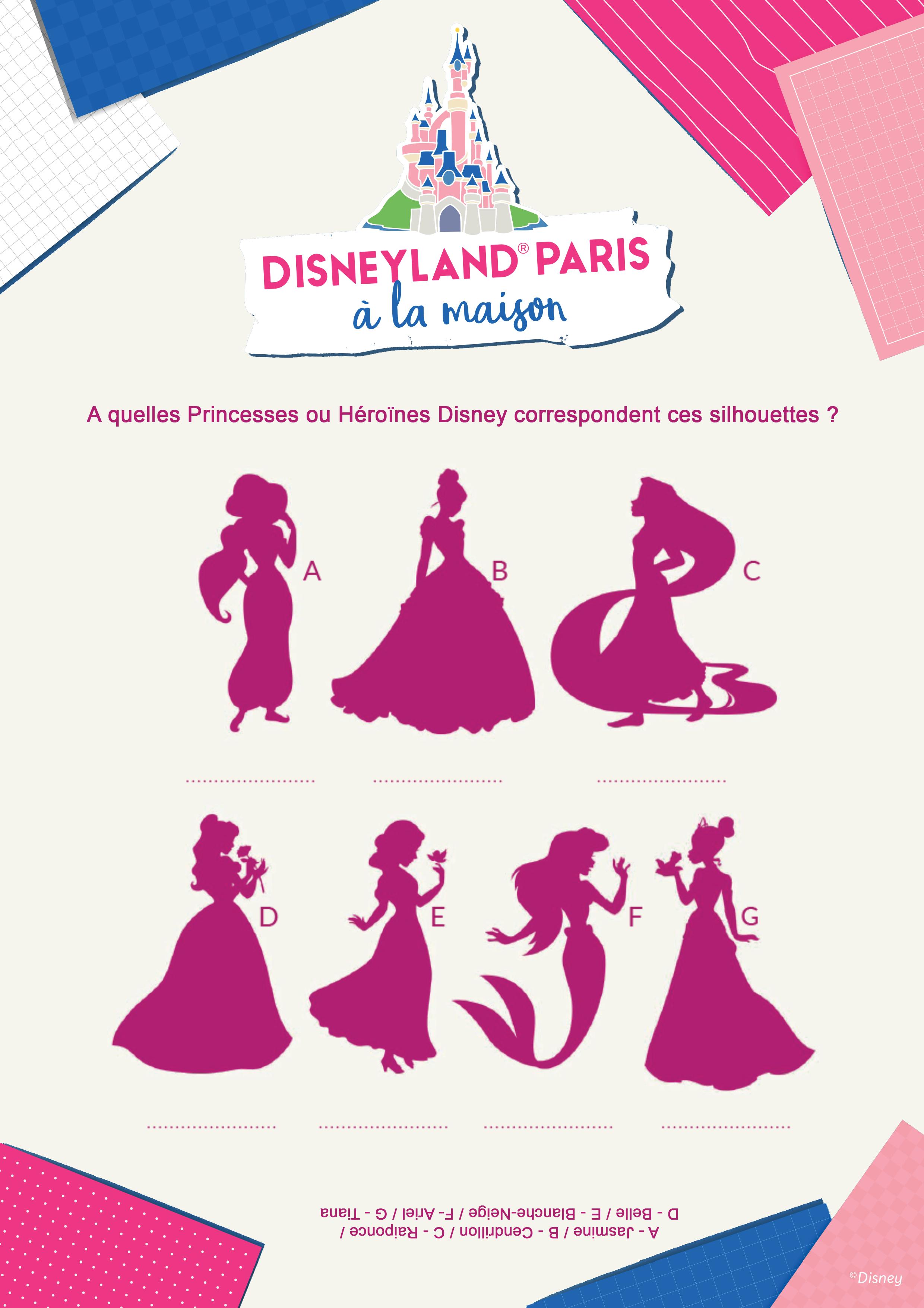 Quelles sont les princesses derrière ces silhouettes ?
