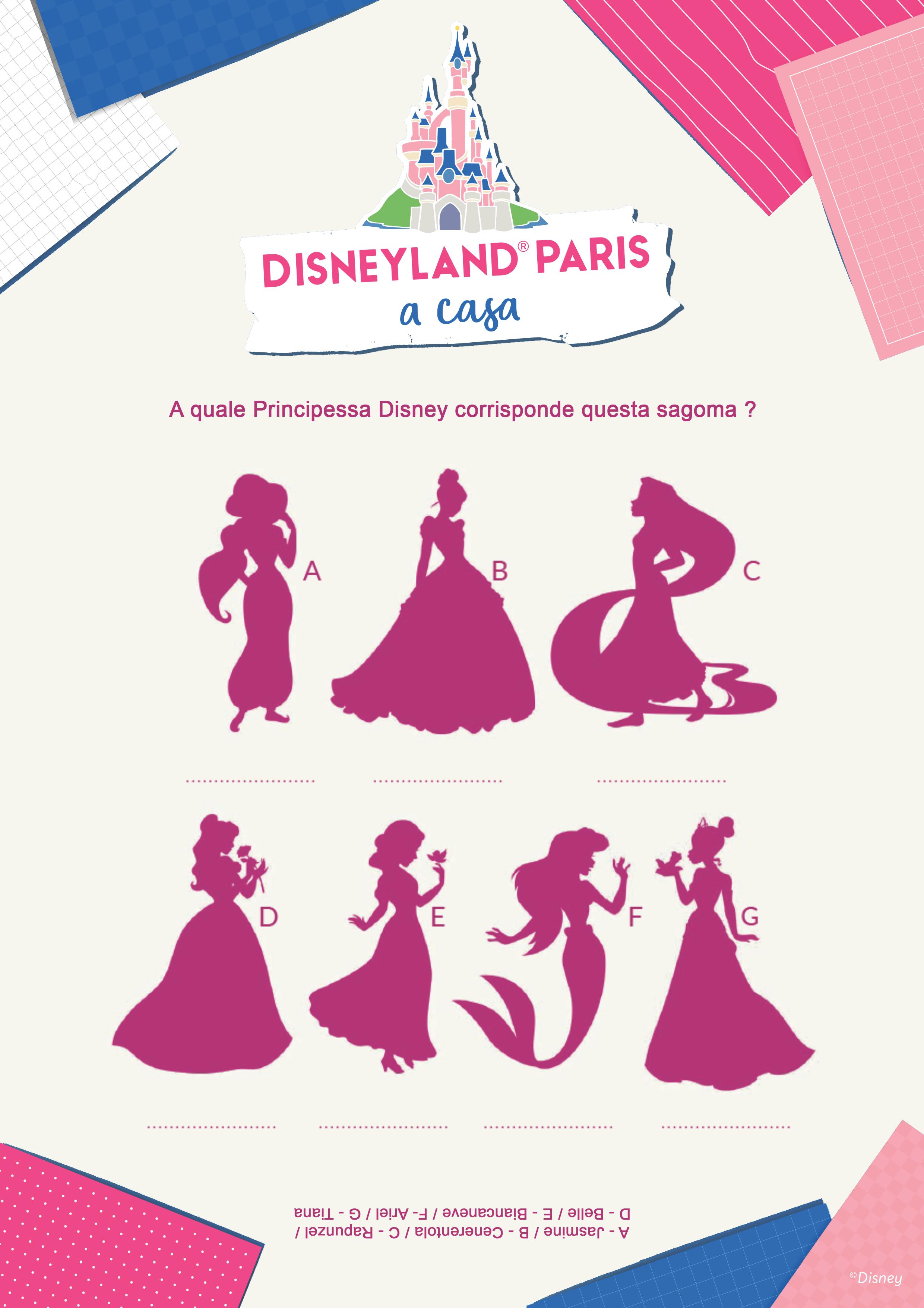 A quale Principessa Disney corrisponde questa sagoma ?